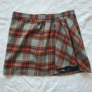 Plaid mini skirt, size 10, J. Crew